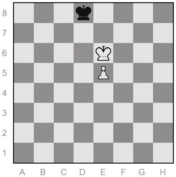 chess end game with one pawn